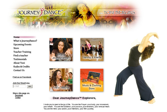 Design Portfolio: journeydance.com